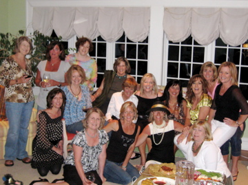 Book club satc party group photo