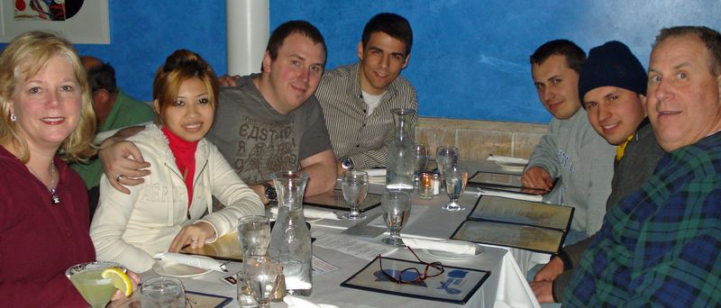 James and fam at the vi