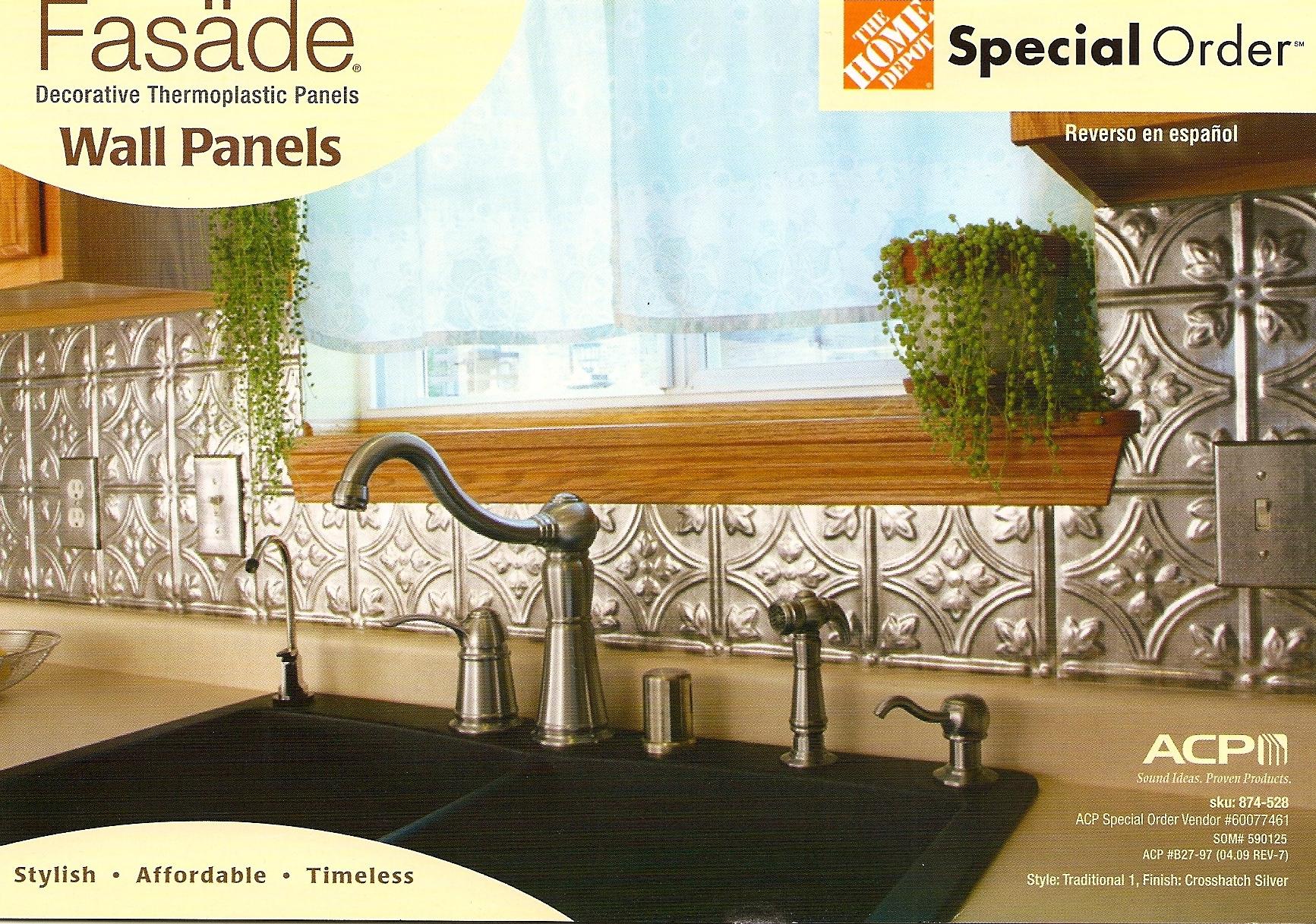 Fasade decorative wall panels or bedazzling moms kitchen becolorful facade wall panels dailygadgetfo Choice Image