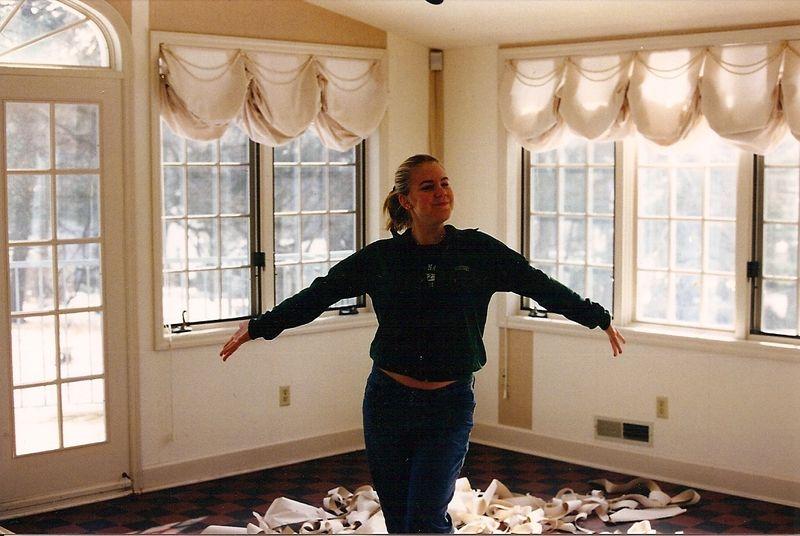 Liz stripping wallpaper 98