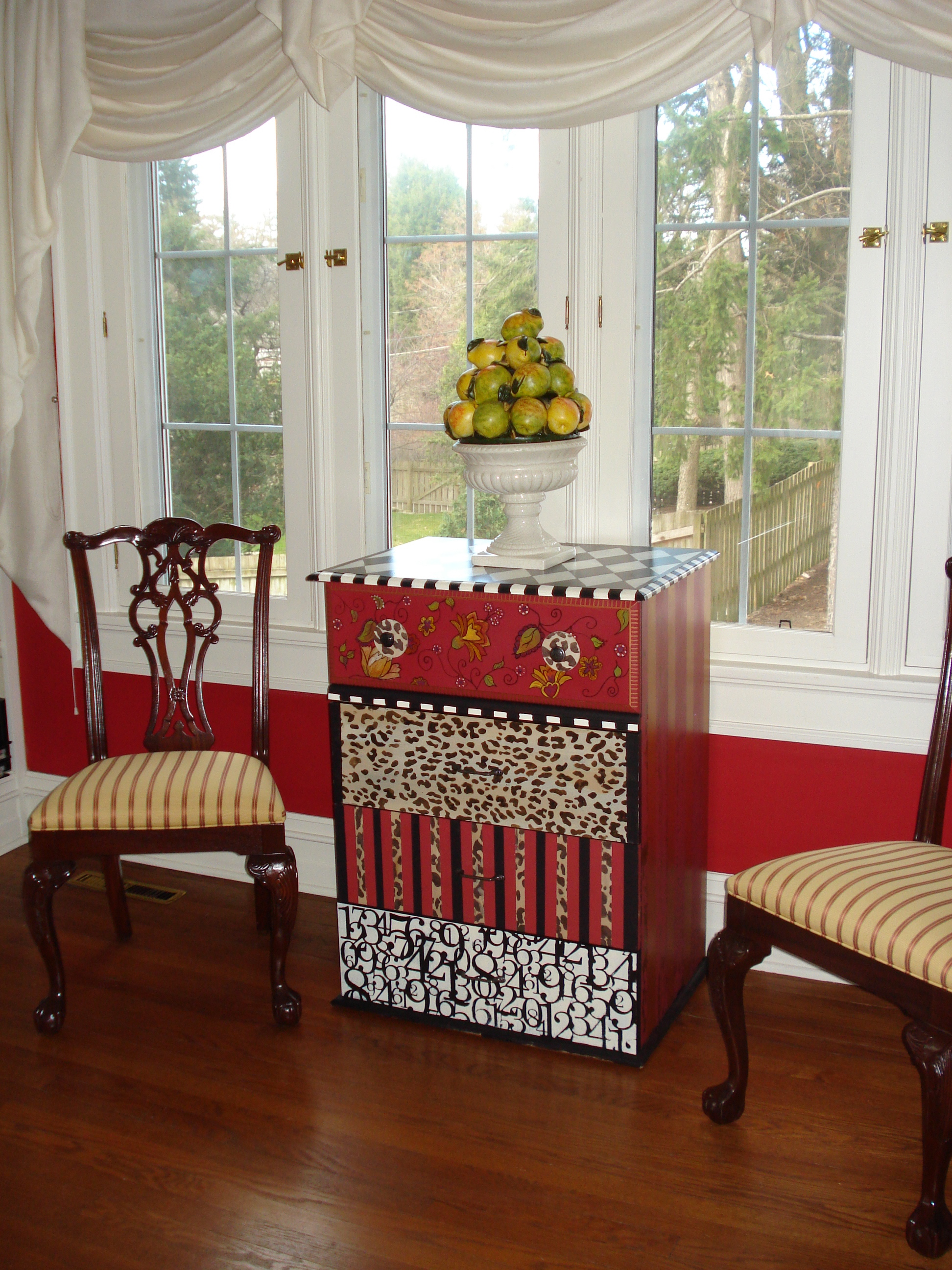 Funky Hand Painted Furniture in a Traditional Home Becolorful