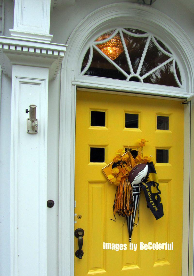 Front door Hawkeye exterior off to the left