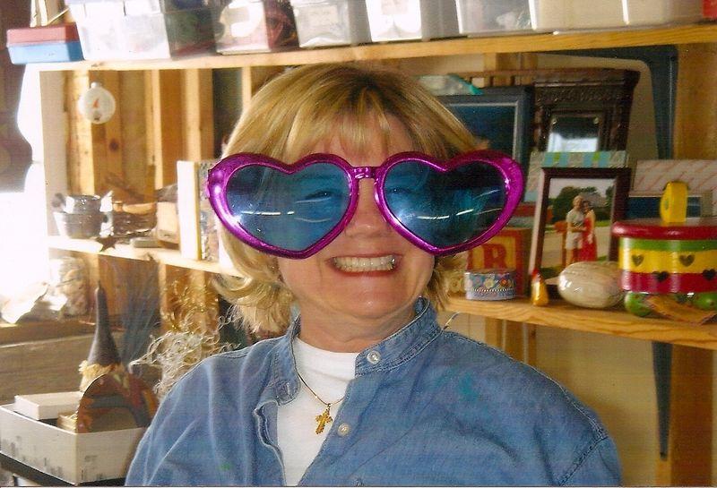 Lynn in craxy glasses