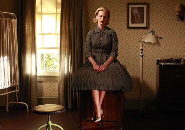 Madmen betty grey flanel pleat amc