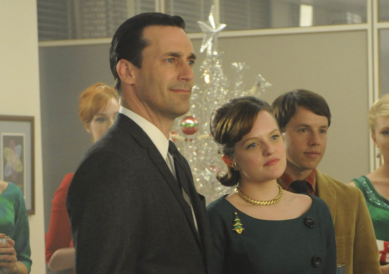 Madmen don and peggy xmas amc