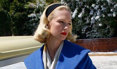 Madmen betty in blue w headband