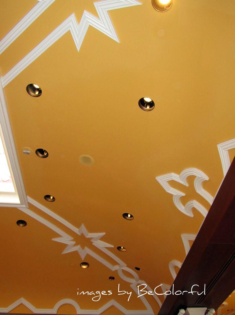 Vegas yellow orange ceiling