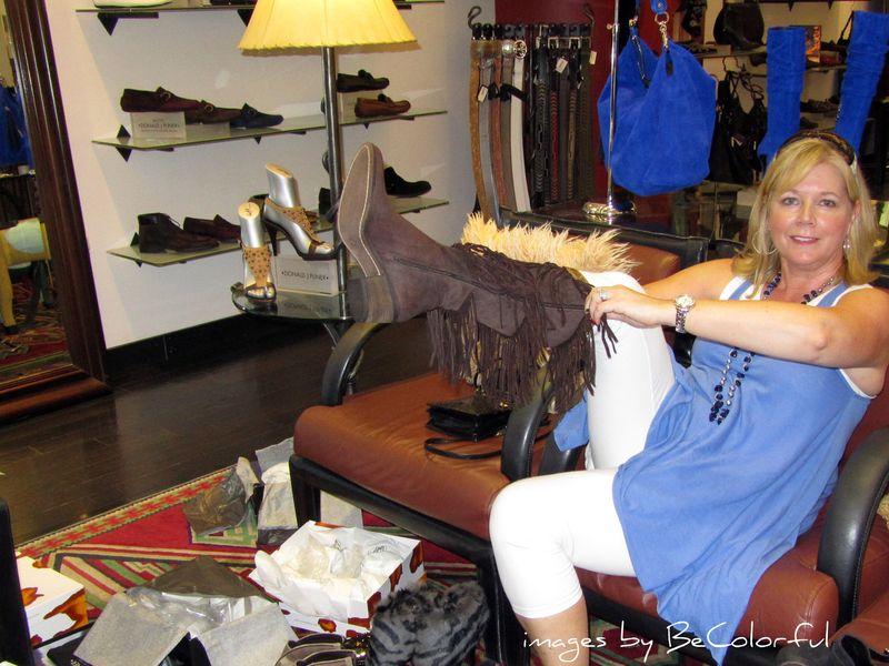 Vegas brown fringe boots