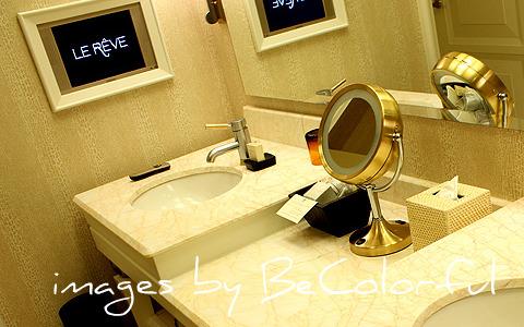 Vegas bathroom tv