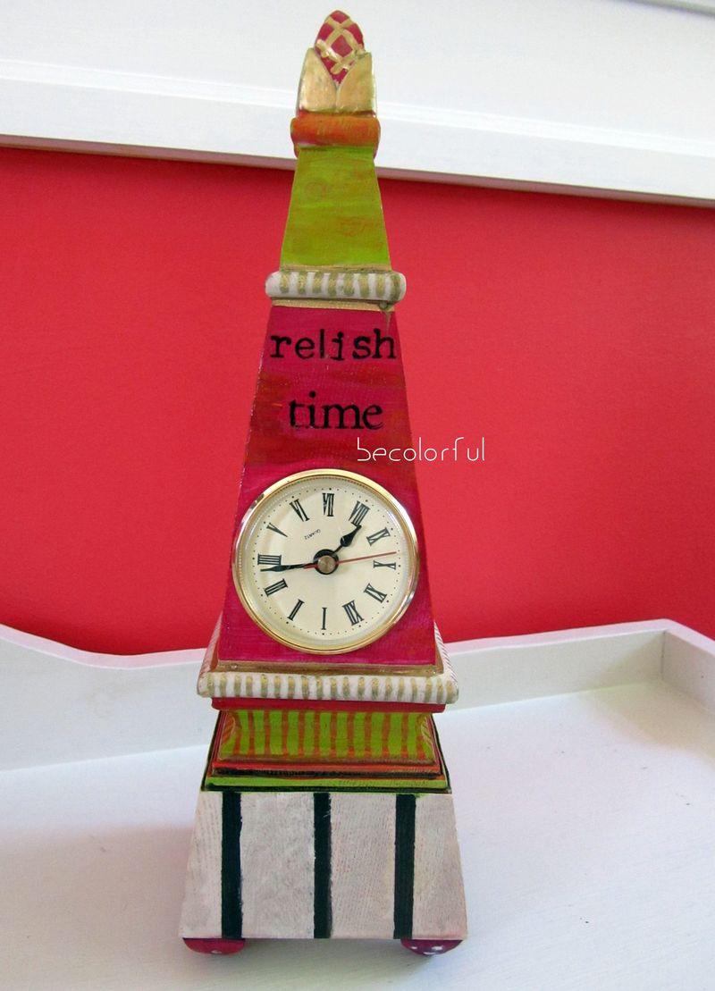 Trav door 2010 fall clock pink pyramid