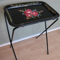 Good Vintage TV Tray. And They Would Fold Up Into Some Sort Of Storage Set Up  Like This Set. 1_8005540c1e7d2a60362e0c819a5ce35b