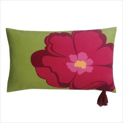 Poppy+Raspberry+12x20+Pillow