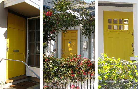 Apartment Therapy yellow door