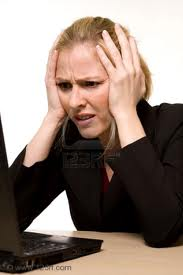 Images woman frustrated on computer