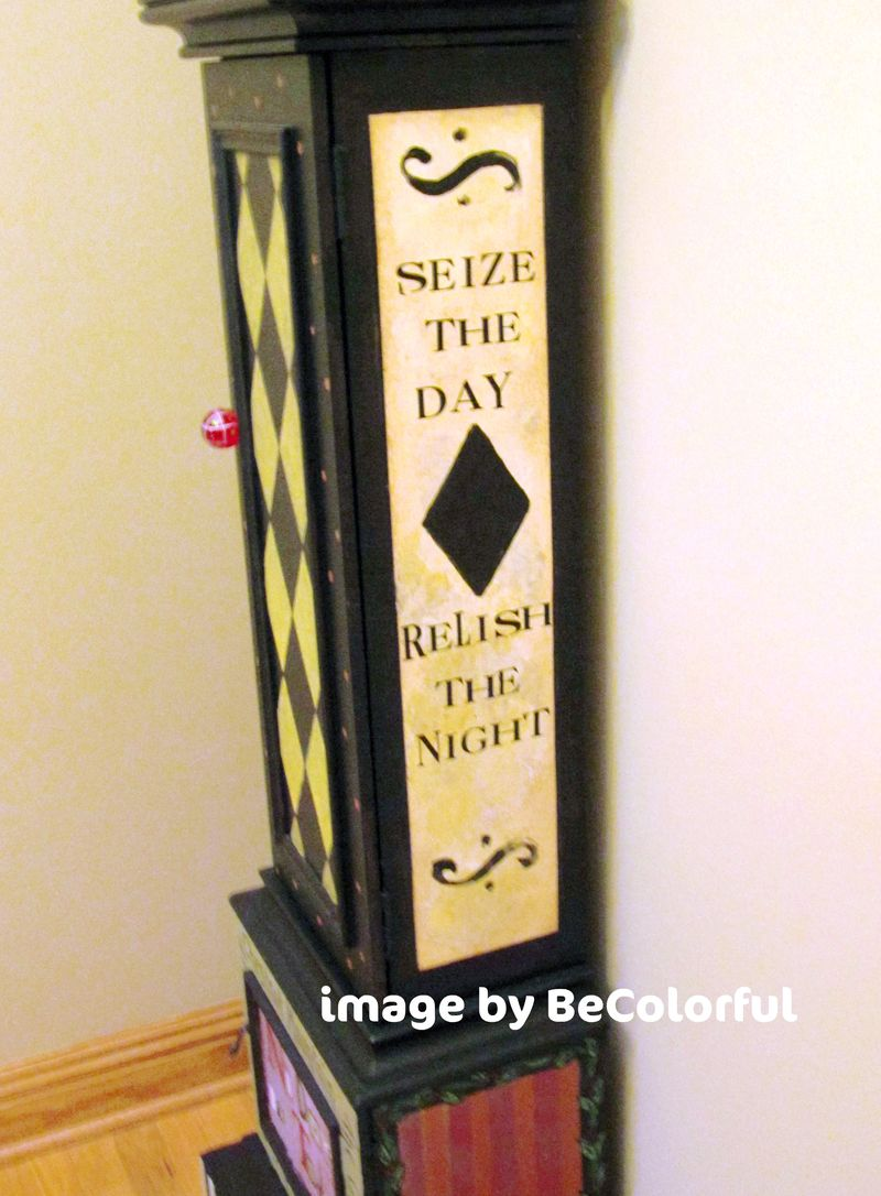 Galena clock side view quote