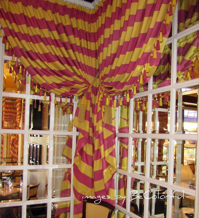 Vegas yellowpink drape
