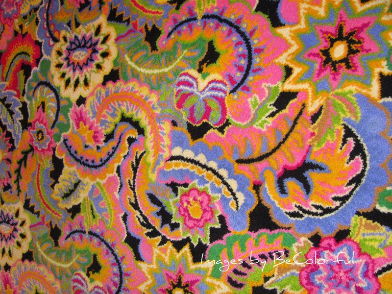Vegas pink green blue carpet