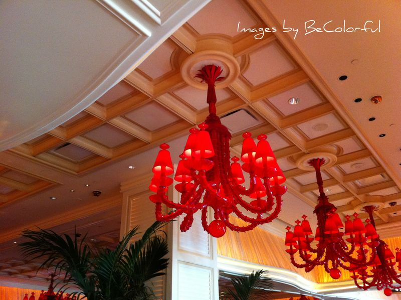 Vegas chandeliers red medium