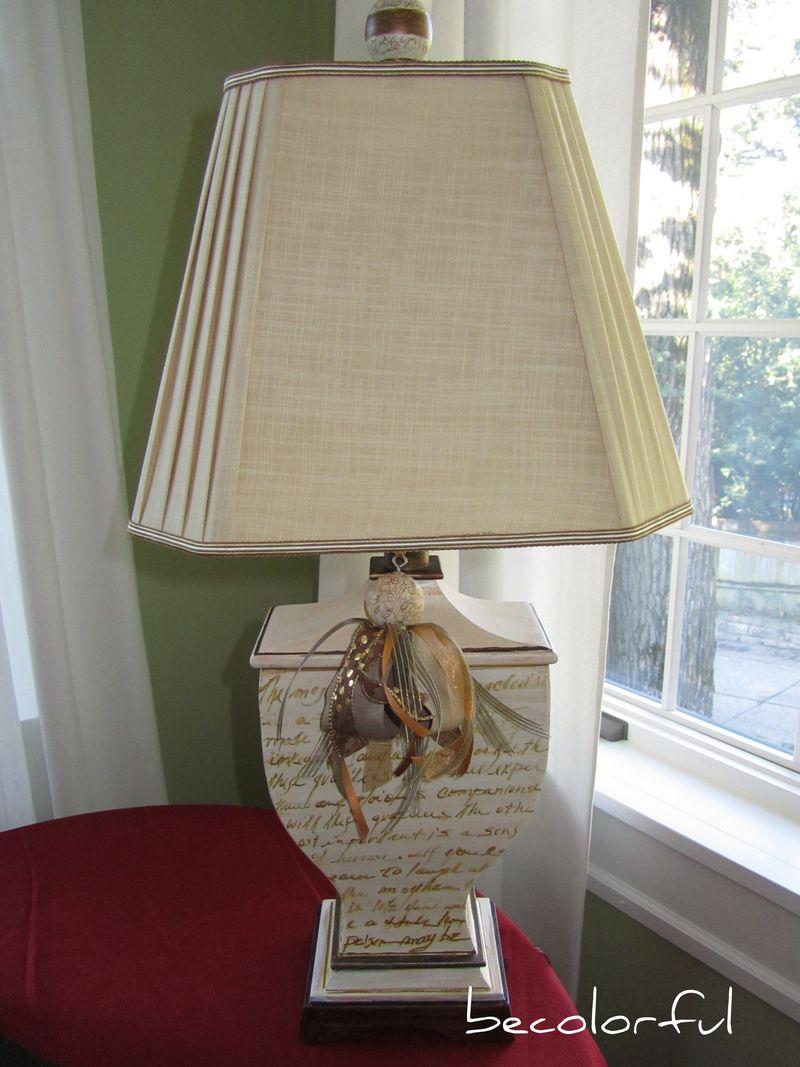Lamp w words daytime full image