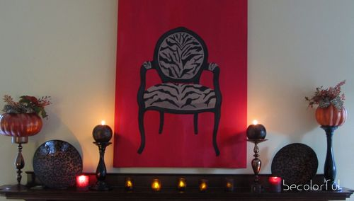 Mantel with votives full