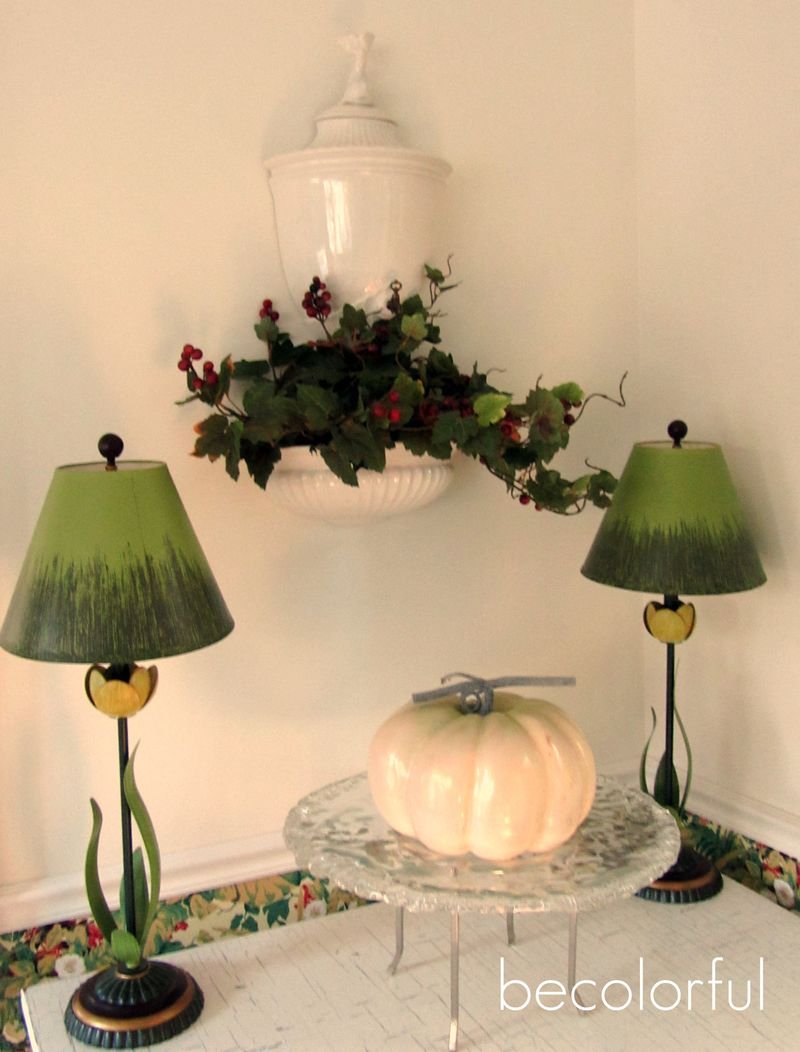 Fall flair white pumpkinsunroom