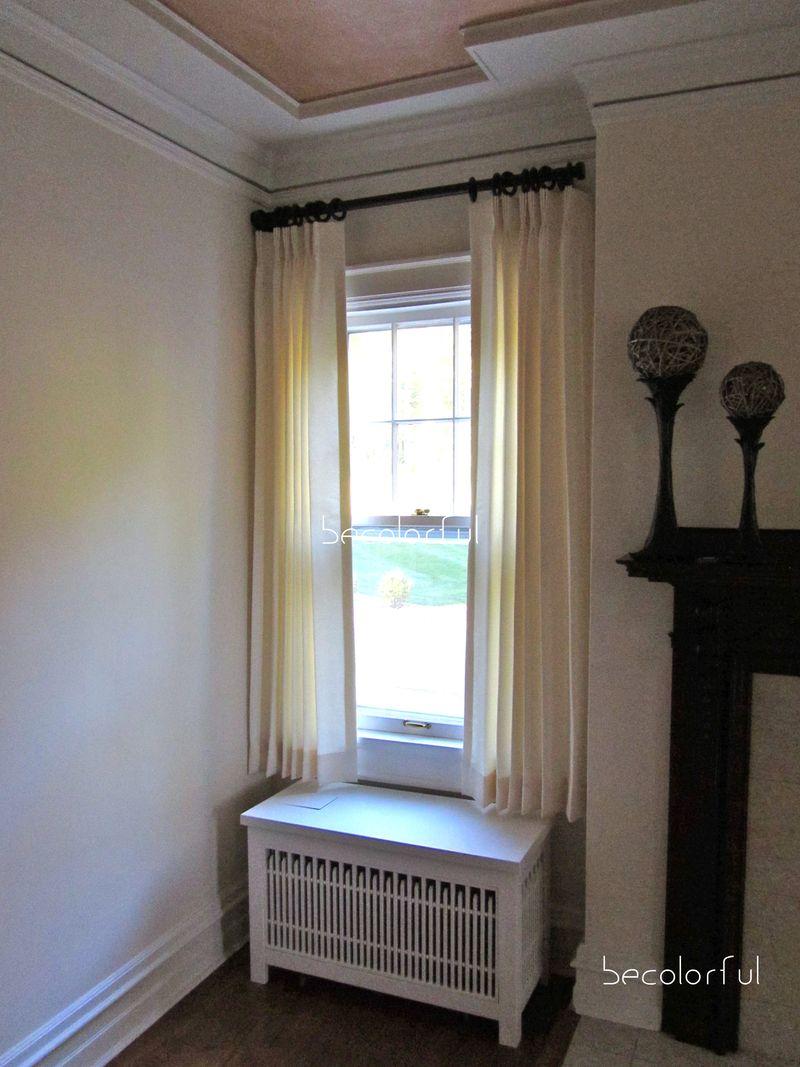 Living room redo shorter drapery