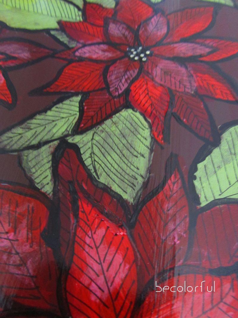 Trav door 2010 fall lazy susan poinset close up