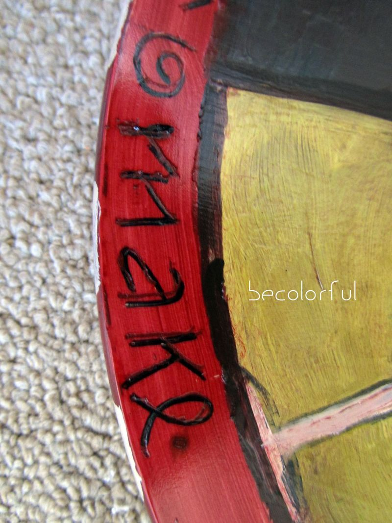 Lazy Susan With Words Close Up 2