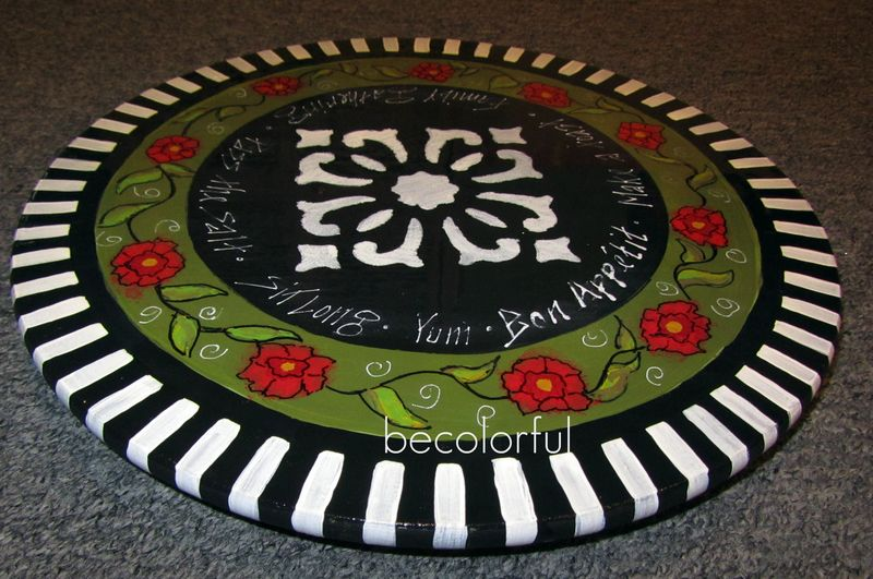 Trav door 2010 fall lazy susan blk white and green