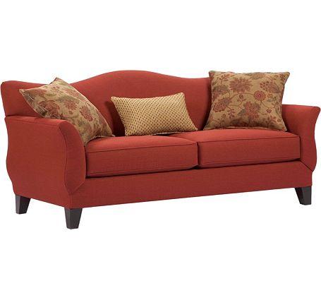 Rust Sofa Broyhill Like Smulies