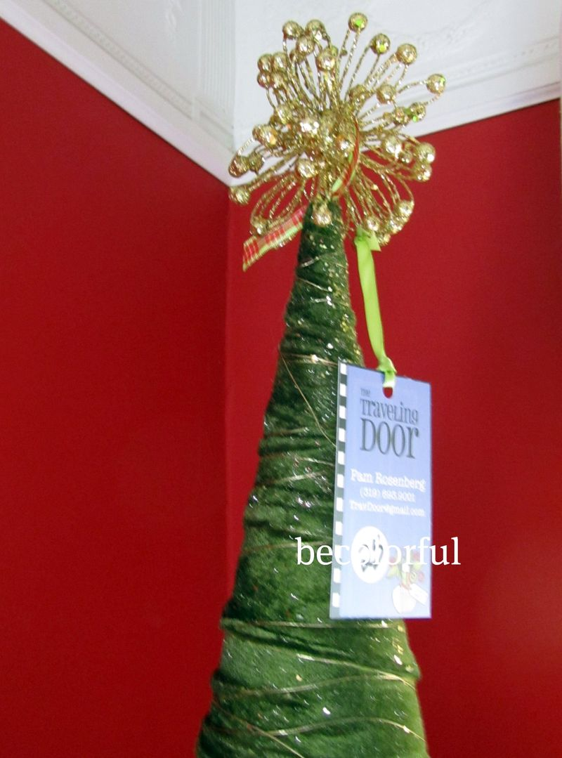 Tree topper green tree with gold top