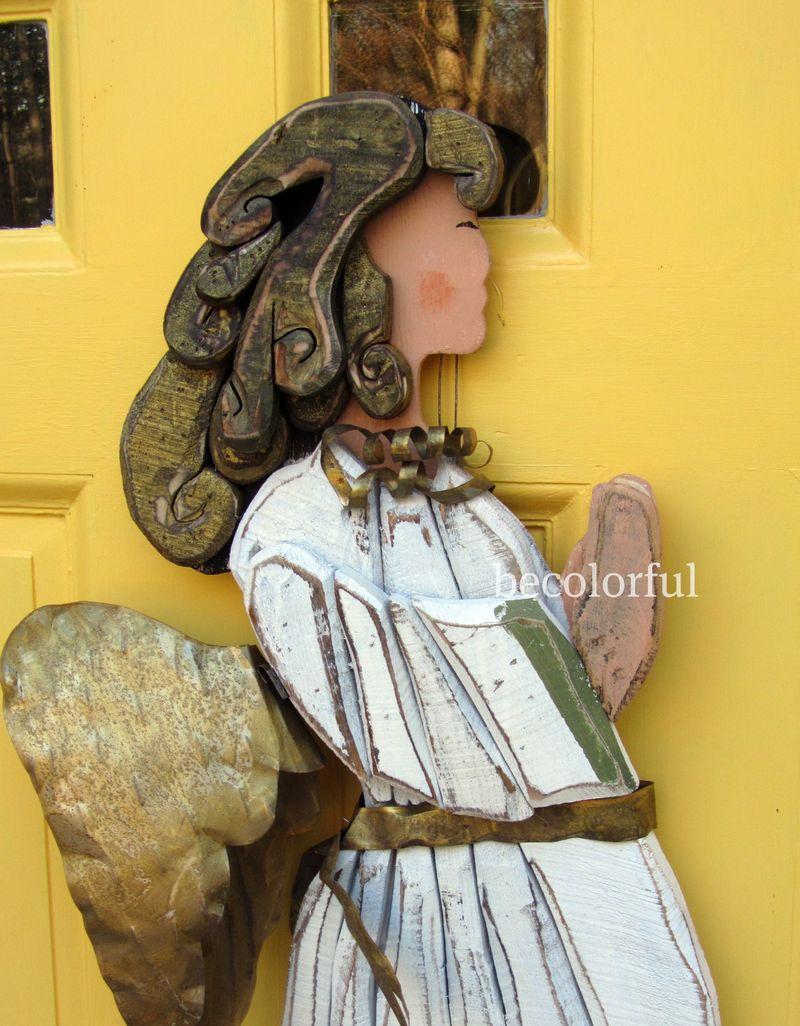 Praying Angel close up before