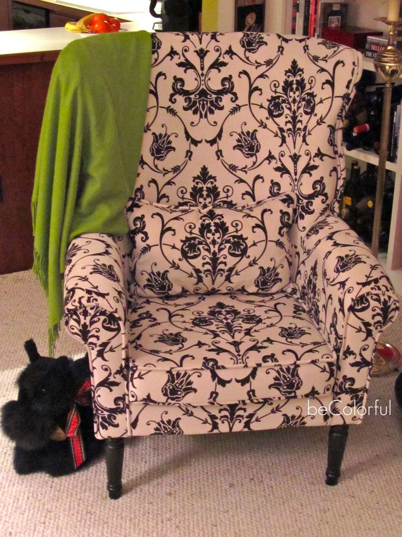 Mom's black white Pier 1 chair