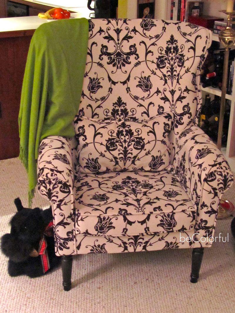 Mom's black white Pier 1 chair