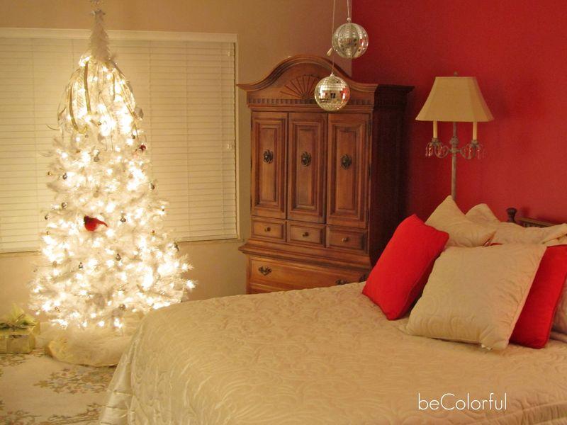 Mom's bedroom and Christmas tree