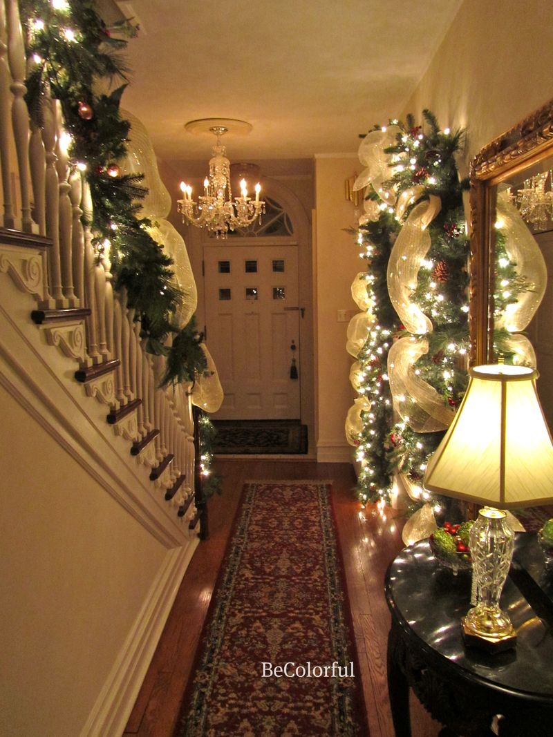 foyer towards door - Christmas Decorating Ideas For Foyer