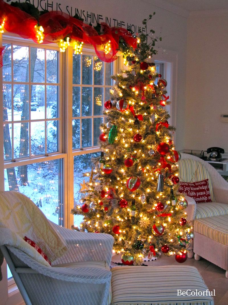 Breezeway tree and chairs