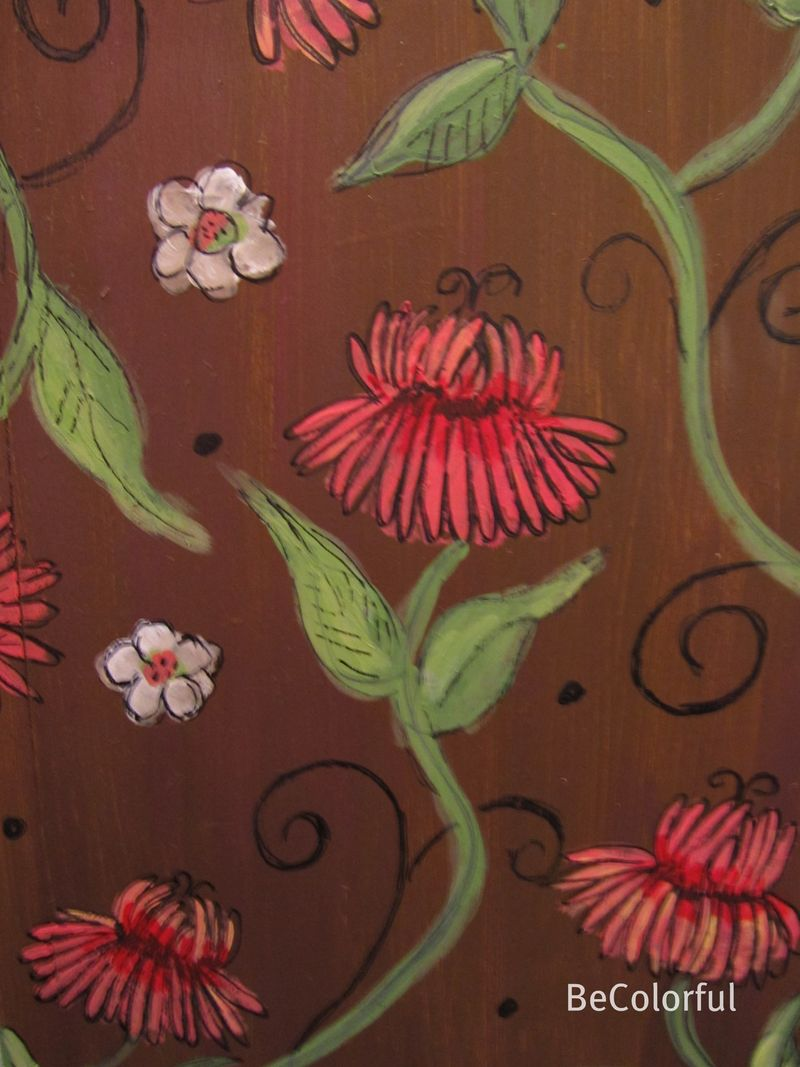 Brown floral close up
