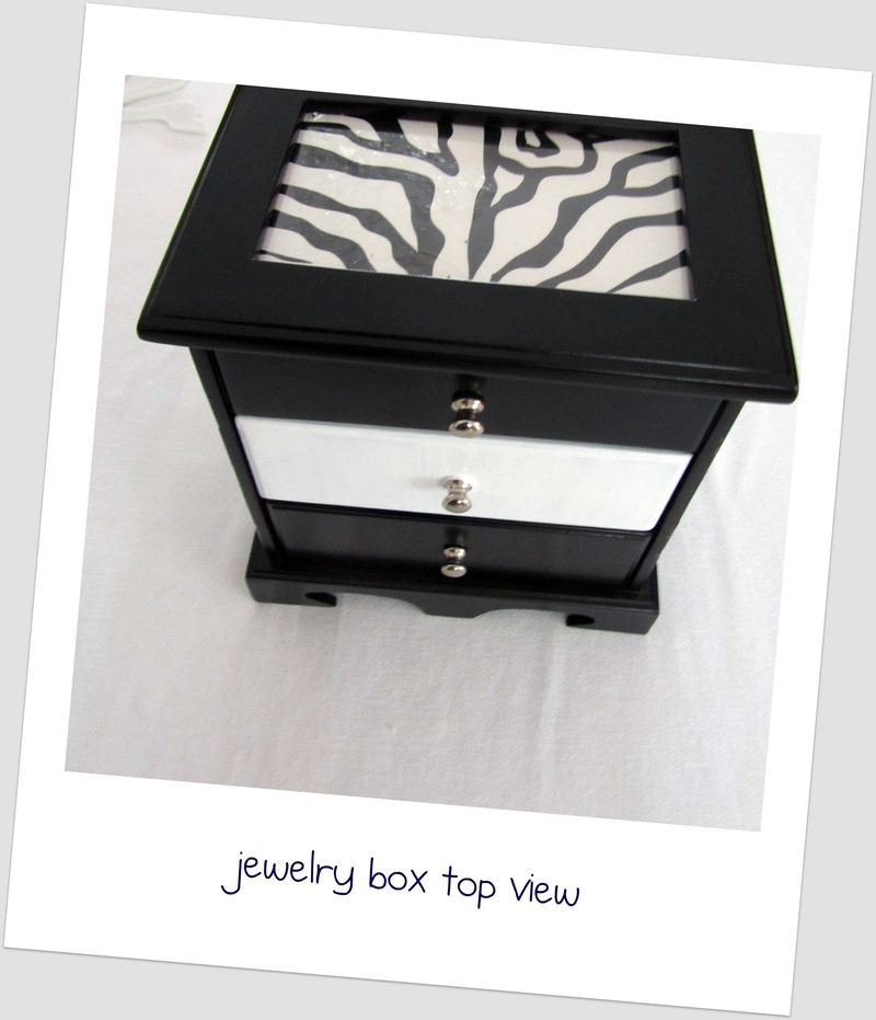 Jewelry box top and front