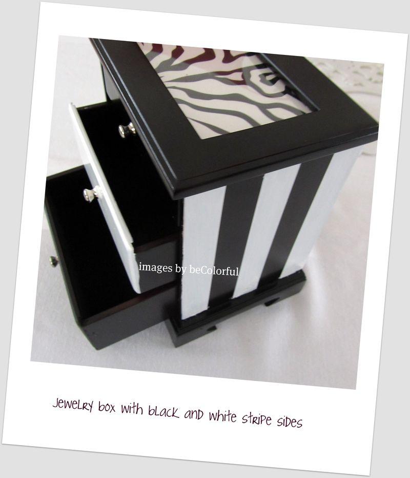 Jewelry box stripe sides