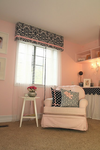Pink and navy nursery design dazzle