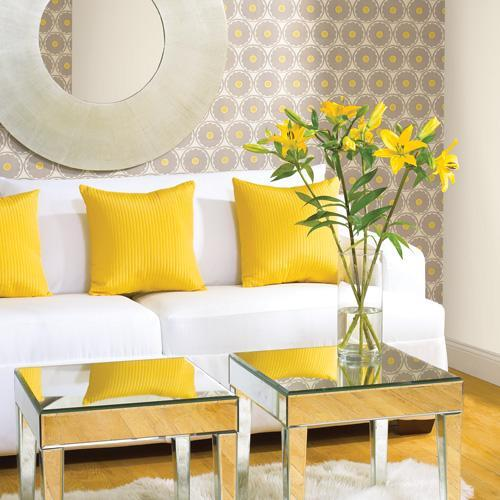Decor pad yellow accents