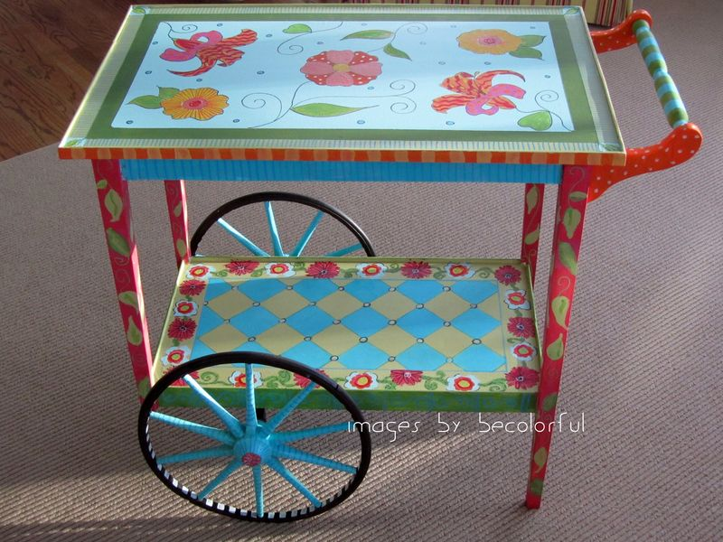 Tea cart full