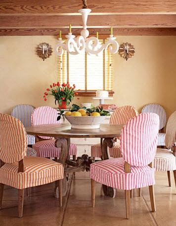 House beautiful stripe chairs