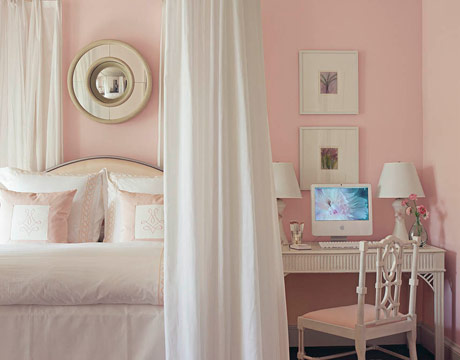 Soft pink bedroom house beautiful