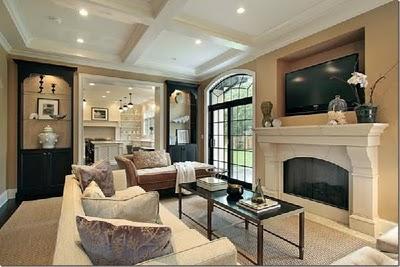 Elle Decor - Living Room - Taupe, Formal