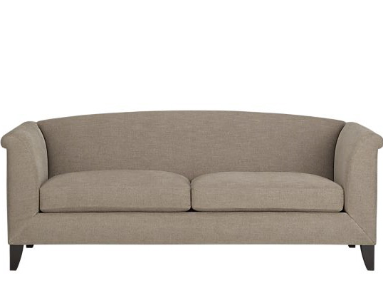 Crate and barrel sofa taupe