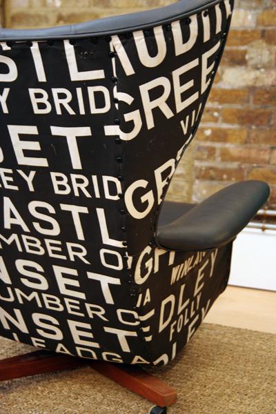 Wing chair rockett st george subway fabric.