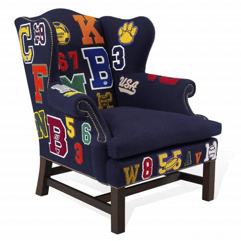 Wing chair ralph lauren