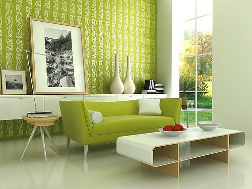 Olive green modern decors